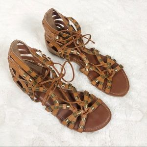 Altar'd State Brown Faux Leather Sandals